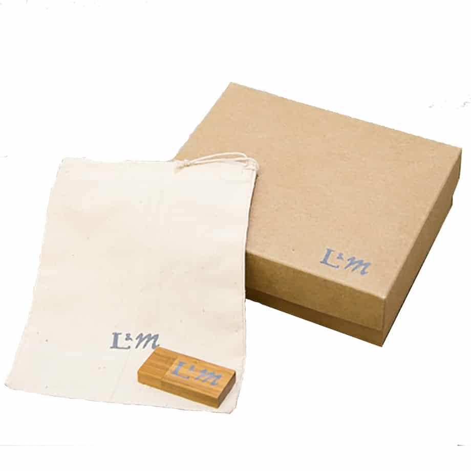 Branded USB, box and bag