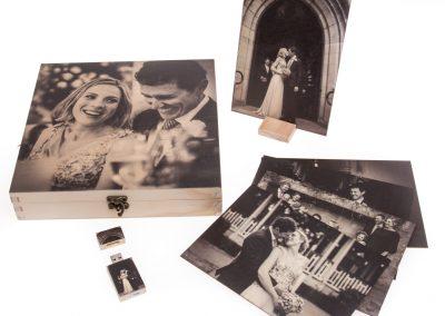 Printed timber gift box set