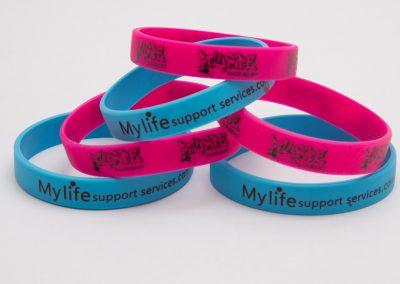 Custom printed wrist band