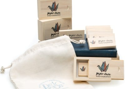 whitewash bamboo usb and box set