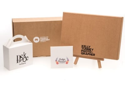 custom printed logo branded packaging