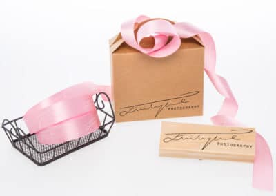 Custom ribbon and stamp