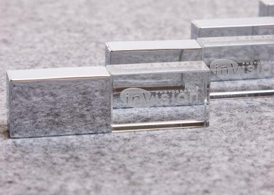 Silver Crystal USB flash drive