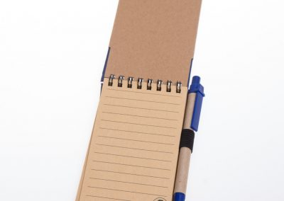 Printed tradie notebook and pen