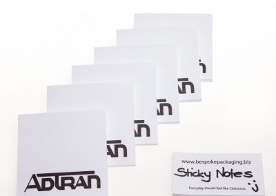 Sticky notes with personalised logo printing