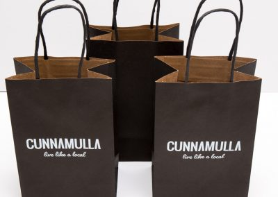 Paper bag with printed logo