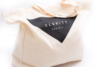 Screen printed calico carry tote bag